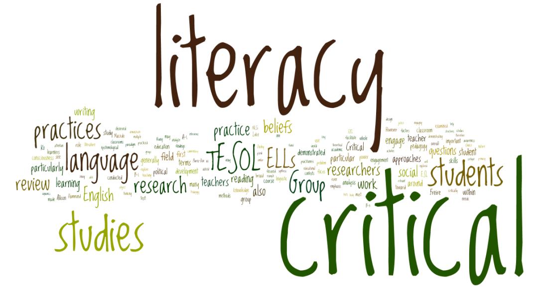 Critical Literacy Word Cloud